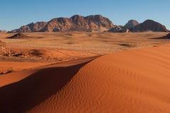Areia-dunas no deserto do Barranco-Rum. Imagem de Stock Royalty Free