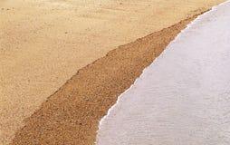 Areia e água Fotografia de Stock
