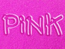 Areia e embutimento cor-de-rosa - efeito de Fluo Imagens de Stock