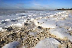 Areia e gelo Imagem de Stock