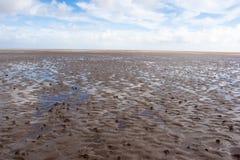 Areia e nuvens Fotos de Stock Royalty Free