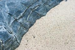 Areia e pedra Fotografia de Stock