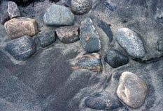 Areia e pedras Foto de Stock Royalty Free