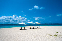 Areia e praia Fotografia de Stock Royalty Free