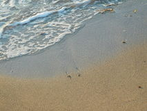 Areia e terra fora Fotos de Stock Royalty Free