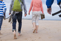 Areia entre nossos dedos do pé Fotos de Stock Royalty Free