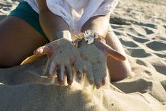 Areia fina morna no verão Imagem de Stock Royalty Free