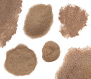 Areia isolada no branco Imagens de Stock