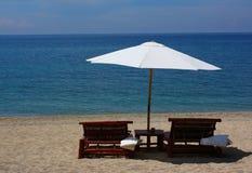Areia, mar e verão Imagem de Stock Royalty Free