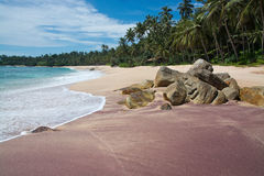 Areia mineral vermelha Fotos de Stock Royalty Free