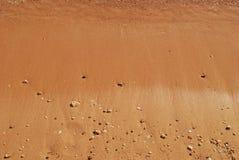 Areia molhada Fotografia de Stock Royalty Free