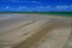 Areia molhada Fotografia de Stock