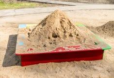 Areia na caixa de areia Imagens de Stock