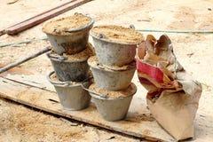 Areia na cubeta Imagem de Stock