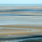 Areia na maré baixa Foto de Stock Royalty Free