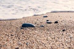 Areia na praia Foto de Stock