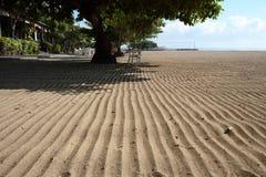 A areia na praia de Sanur Imagem de Stock