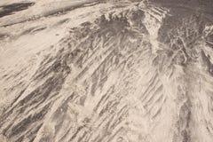 Areia preto e branco da textura do fundo natureza lanzarote do teste padrão Imagens de Stock Royalty Free