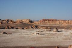 Areia, sal e rochas do deserto Imagens de Stock