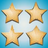 A areia Stars ícones para o jogo de Ui Fotografia de Stock Royalty Free