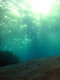 Areia subaquática Foto de Stock