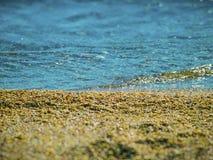 Areia, uma praia e o Mar Negro Imagens de Stock Royalty Free