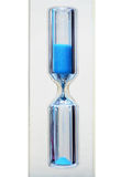 Areia-vidro com areia azul Imagem de Stock