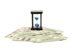 Areia-vidro e dólar Imagem de Stock Royalty Free