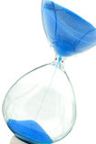 Areia-vidro no tom do azul dos dólares Foto de Stock Royalty Free