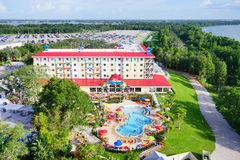 Areial-Ansicht des lego Landparks und des Erholungsortes Florida Stockfotografie