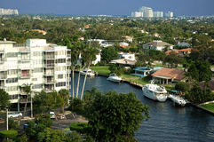 areial Florydy kanałowy widok Fotografia Stock