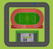 Areial view of sports track Stock Photography