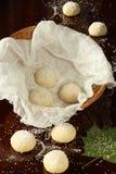 Areias - πορτογαλικά μπισκότα ζάχαρης στο καλάθι στοκ εικόνα με δικαίωμα ελεύθερης χρήσης