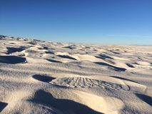 Areias brancas fotografia de stock