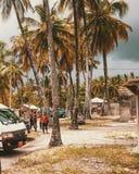 Areias brancas da praia de Uroa, baía de Uroa, Zanzibar fotos de stock