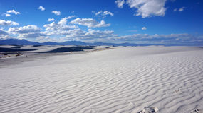 Areias brancas, New mexico Fotografia de Stock