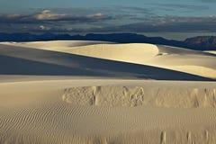 Areias brancas no crepúsculo Imagens de Stock