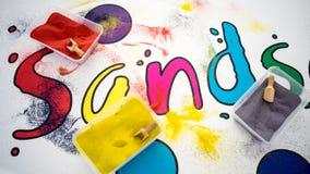 Areias coloridas imagem de stock