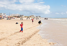 Areias da curvatura, curvatura: dunas e a praia Fotografia de Stock