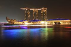 Areias de Marinabay, Singapura Foto de Stock Royalty Free