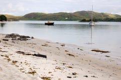 Areias de prata de Morar, Scotland foto de stock