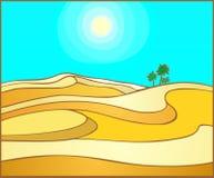 Areias de queimadura do Sahara foto de stock