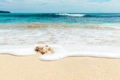 Areias do feriado branco da praia Imagens de Stock Royalty Free