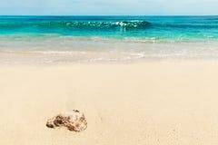 Areias do feriado branco da praia Imagem de Stock