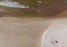 Areias do Seascape no litoral ao mar fotos de stock royalty free