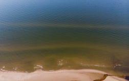 Areias do Seascape no litoral ao mar fotografia de stock