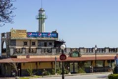 AREIAS DOURADAS, terraço do restaurante de BULGÁRIA Fotografia de Stock Royalty Free