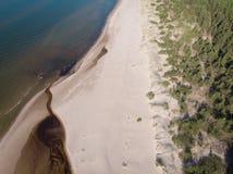 Areias e rio do Seascape no litoral ao mar foto de stock royalty free