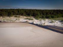 Areias e rio do Seascape no litoral ao mar imagem de stock royalty free