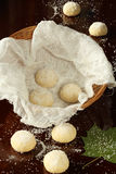 Areias - Portuguese Sugar Cookies in basket Royalty Free Stock Image